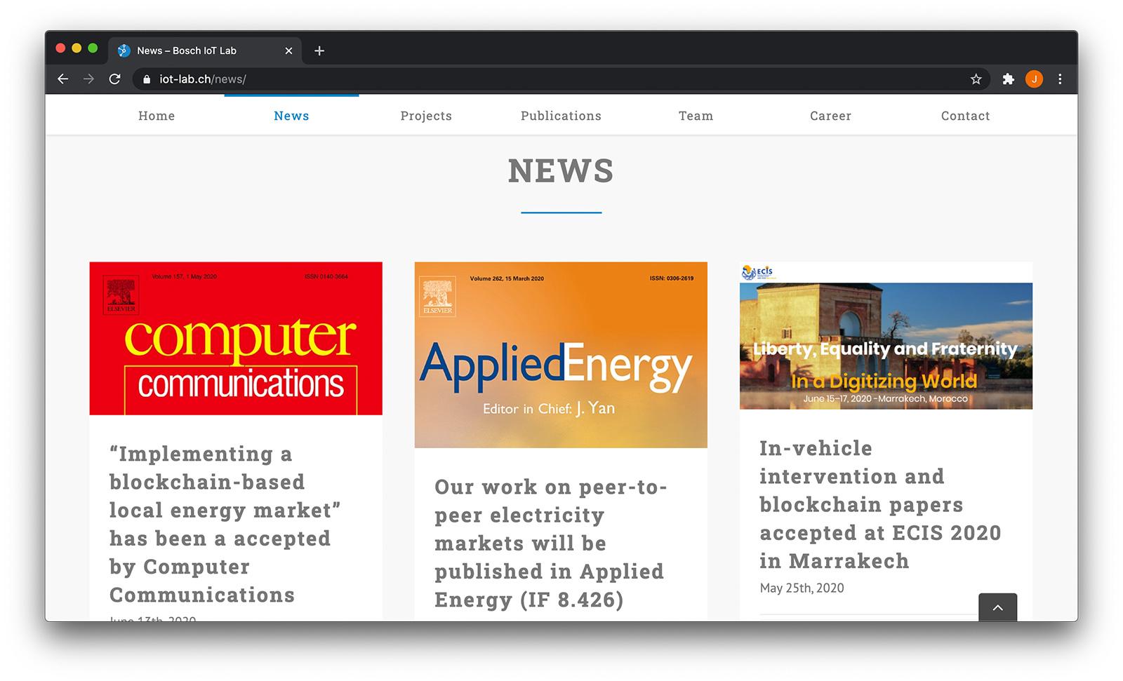 Bosch IoT Lab Screenshot