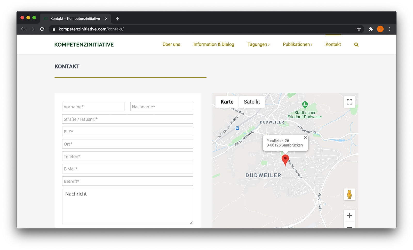 Kompetenzinitiative Screenshot